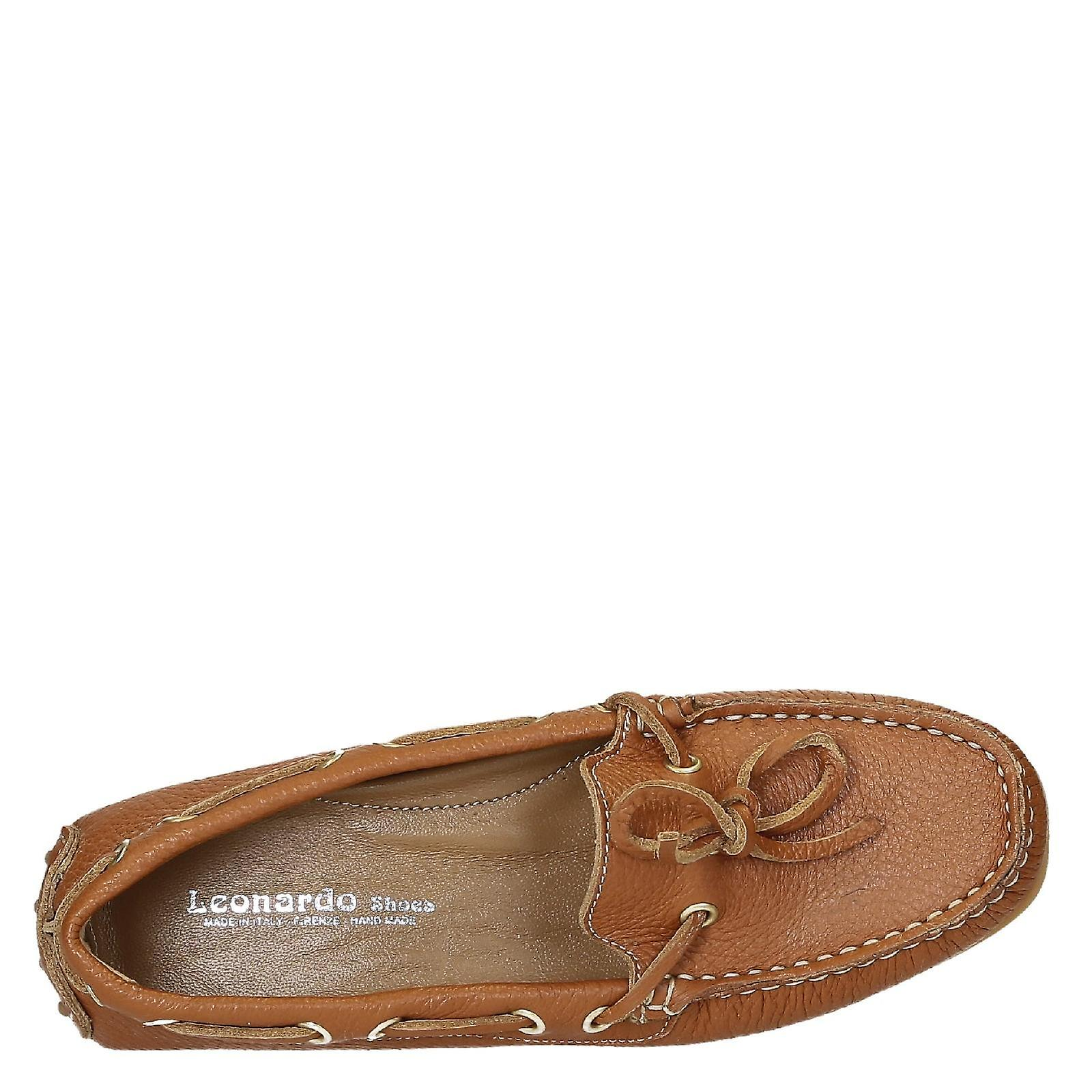moccasins tan in driving Women's grain leather full Bqw5ZPt