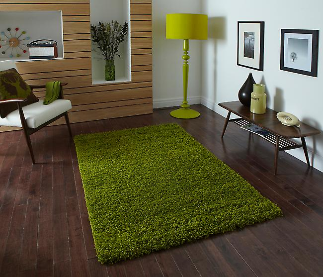 Vista - Plain 2236 Green Green Rectangle Rugs Plain/Nearly Plain Rugs