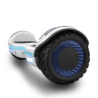 Movimento di Mega Hoverboard - Self Balancing Electric Scooter - con RGB LED On Wheels - tenda decorativa LED - Bluetooth altoparlanti e APP - motore 700W - segway modello E9