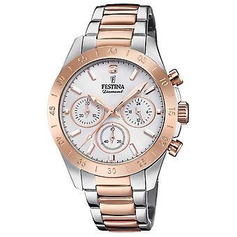 Festina Womens Boyfriend Chronograph Two Tone F20398/1 Watch