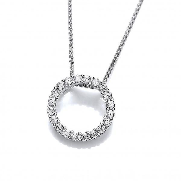 Cavendish French argent and Glittebague CZ Circle pendentif without chaîne