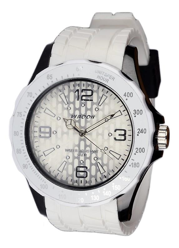 Waooh - Silicone Watch Black And White Waooh Gpm48 Inspired From Monaco Grand Prix