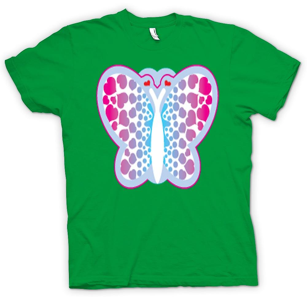 Mens T-shirt - Butterfly with Hearts