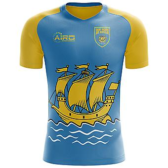 2018-2019 Saint Pierre and Miquelon Home Concept Football Shirt