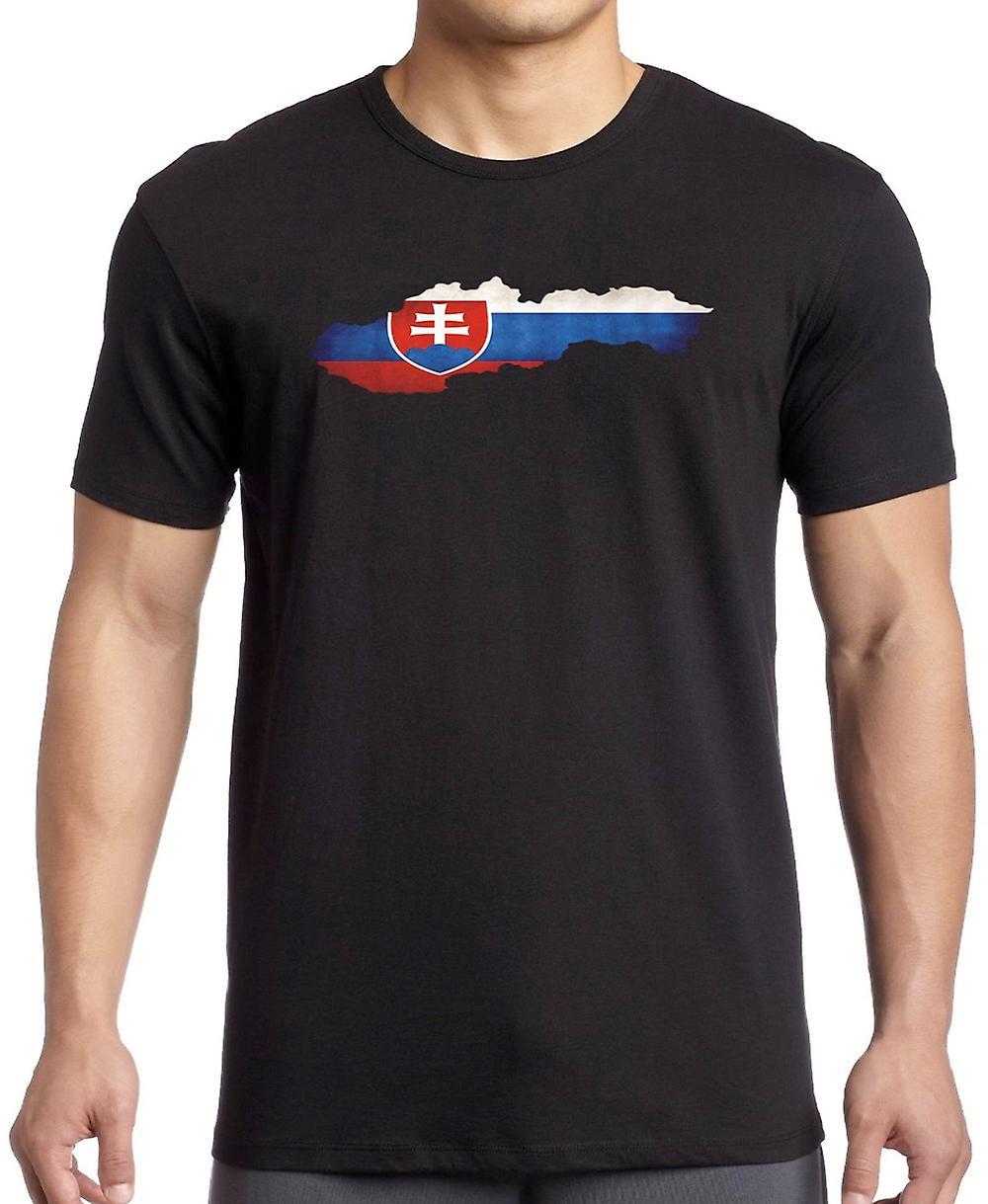 Bandera de Eslovaquia mapa T Shirt
