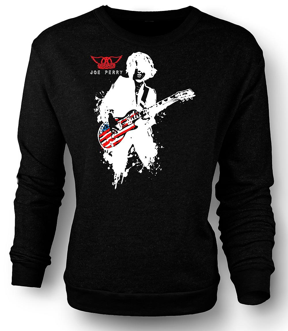 Mens Sweatshirt Aerosmith - Joe Perry - Guitar