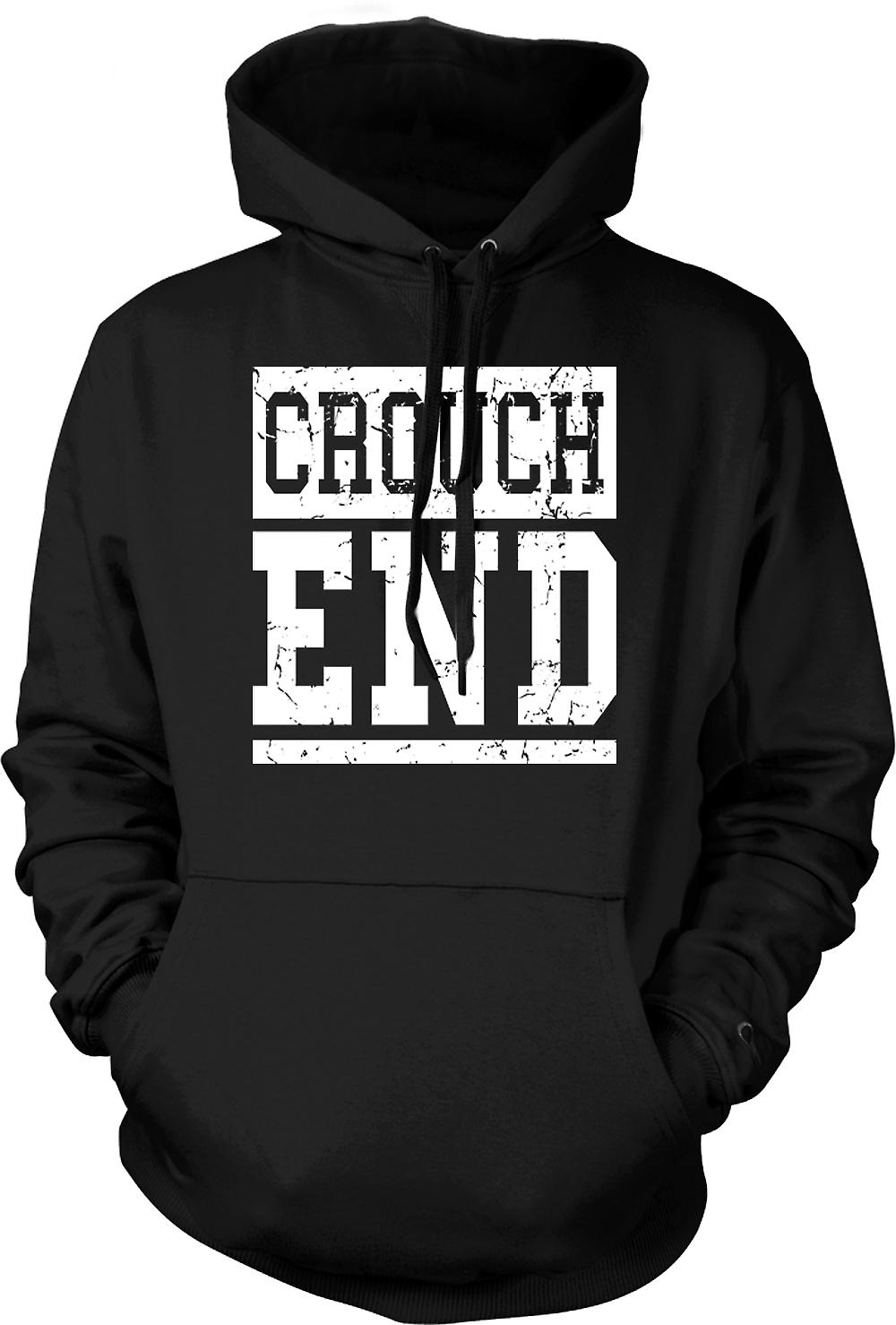 Mens Hoodie - Crouch End - Cool Funny London as worn by Simon Pegg