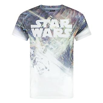 Star Wars Dogfight Sublimation Men's T-Shirt White