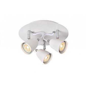 Lucide Ride-LED Modern Round Metal White Ceiling Spot Light