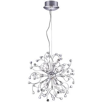 Sonja Chrome And Crystal Twenty Four Light Pendant - Searchlight 6629-24CC