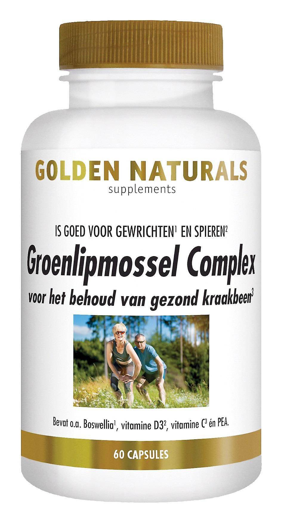 Golden Naturals green-lipped Mussel Complex (60 capsules)