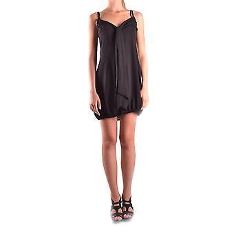 Dsquared2 svart sidenklänning