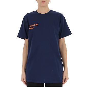 Semi-couture Elisa Blue Cotton T-shirt