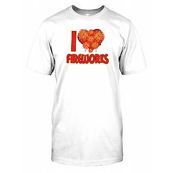 I Love Fireworks - Bonfire Night Kids T Shirt