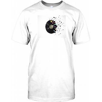 Vinyl Explosion - Cool DJ inspirerad Mens T Shirt