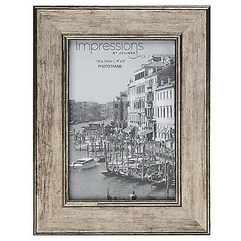 Juliana Impressions Tarnished Pewter Look Photo Frame 4x6 - Brown