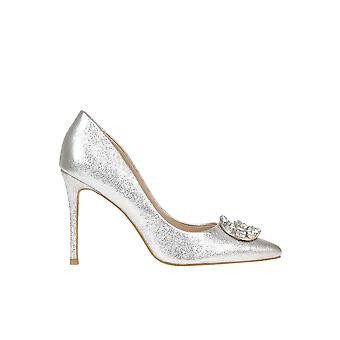 Guess Silver Leather Pumps