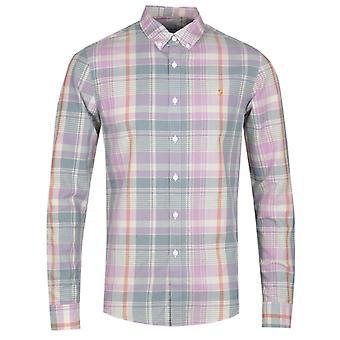 Farah Long Sleeve Slim Fit Check Shirt