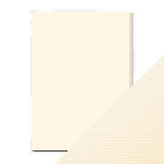 Craft Perfect by Tonic Studios A4 Weave Textured Card 10pk Ivory White