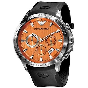 Emporio Armani Ar0652 - Mens Rubber Strap Chrono Designer Watch