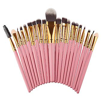 Eye Brush Pink 20 pcs. Professional Make-up/Makeup brushes for the eyes