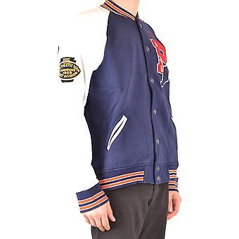 Ralph Lauren hvid/blå bomuld sweatshirt