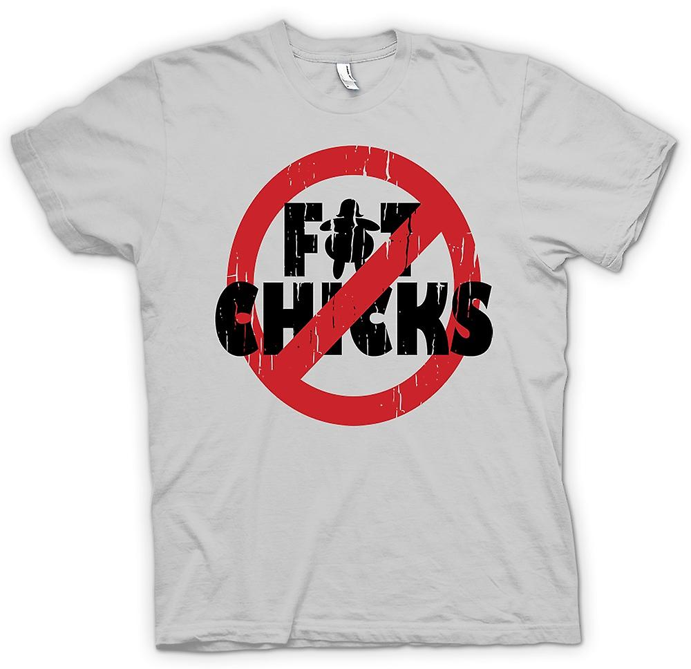 Mens t-shirt - No Fat Chicks - divertente greggio