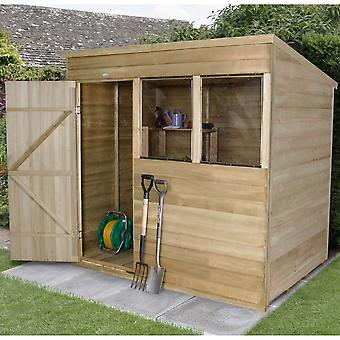 Forest Garden Treated Overlap Pent Garden Shed