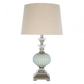 Premier Home Ulyana tafel lamp-EU plug, kristal, glas, ijzer, linnen