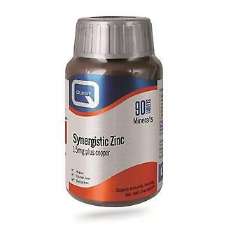 Quest vitaminen synergetische zink tabs 90 (601383)