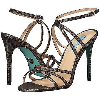 Betsey Johnson Womens SB-MYLA Fabric Open Toe Casual Ankle Strap Sandals
