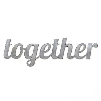 Together - metal cut sign 24x7in