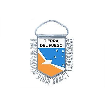 Fanion Mini Drapeau Pays Voiture Souvenir Blason Tierra Del Fuego Argentine