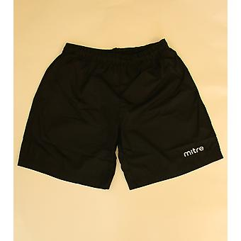 mitre sports shorts boys fitness shorts loose girl pants with inner briefs black