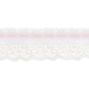 Ruffle Lace with Ribbon 1 3 4