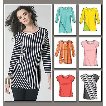 Misses' Top  A5 6  8  10  12  14 Pattern V8792  A50