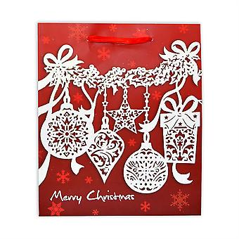 1 x Small Luxurious Christmas Gift Bag -Decorative Glitter Paper Bag