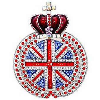 Butler & Wilson Large Union Jack with Crown Brooch