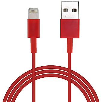 ONX3 Apple iPhone 5S 8 Pin Lightning to USB Charging Data & Sync Cable Lead Wire (Red)