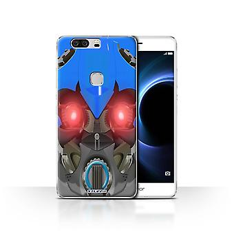 STUFF4 Case/Cover voor Huawei Honor V8/Bumble-Bot blauw/Robots