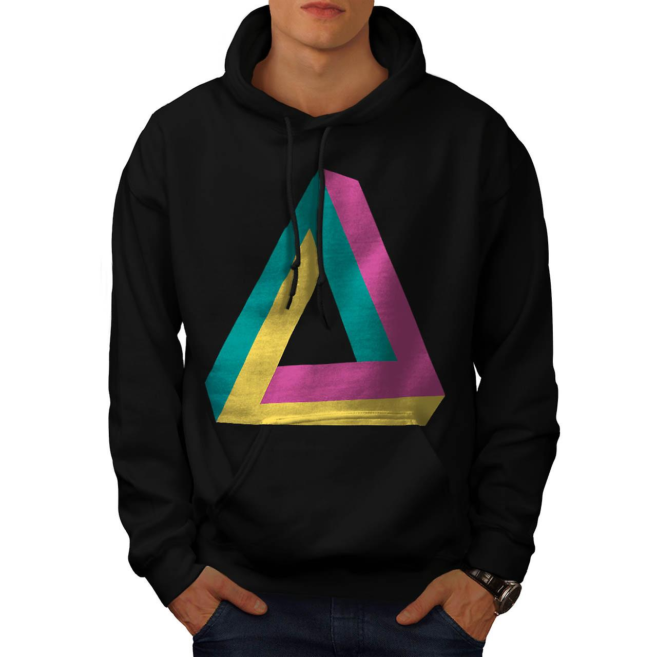 Triangle Drive Shape Summer Fun Men Black Hoodie | Wellcoda
