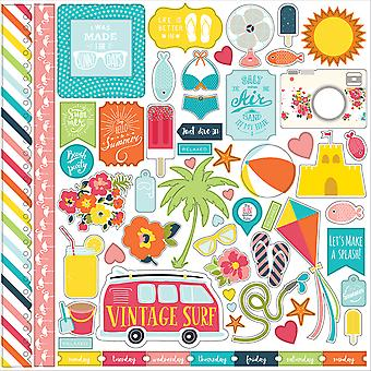 Summer Party Cardstock Stickers 12