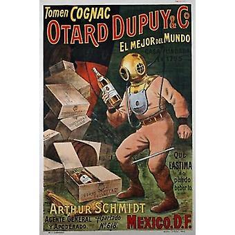 Koniak Otard Dupuy i Co Poster Print przez nieznanych