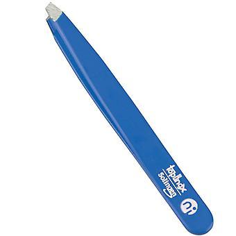 Niegeloh Solingen Slant Tweezers Topinox Blue