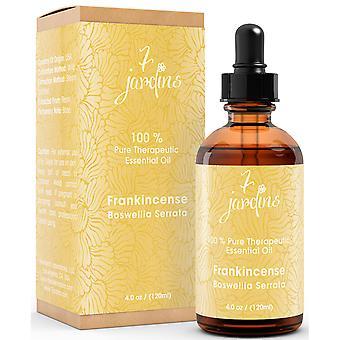 7 Jardins Premium røgelse 100% ren & naturlige terapeutiske Grade Essential Oil. Olibanum 120 ml - til aromaterapi, Anti Aging, reducere Inflammation, gigt smerter & arvæv