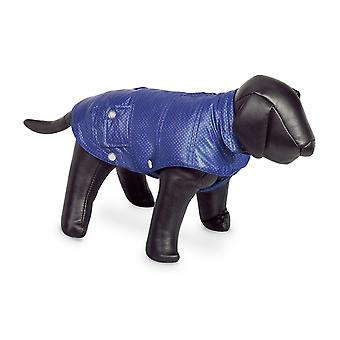 Nobby Danika Dog Coat Blue With Silver Dots 36cm
