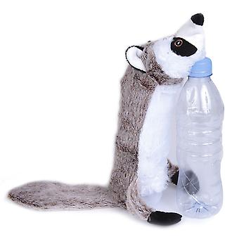Bottle Fill Wild Animal Squeaky Dog Toy Racoon 46cm (18