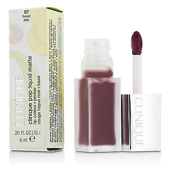 Clinique Pop Liquid Matte Lip Colour + Primer - # 07 Boom Pop 6ml/0.2oz