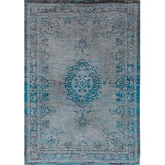 Distressed Turqouise & Grey Medallion Rug - Louis De Poortere 60x90