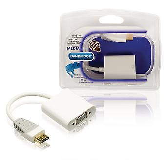 Bandridge High Speed HDMI Câble HDMI connecteur VGA femelle 0,20 m blanc